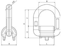 Navařovací sklopný bod SAP 5,3 t GAPA - 3/4