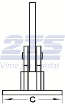 Horizontální svěrka CHHK 5 t, 0-60 mm, výkyvná hlava - 3