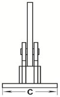 Horizontální svěrka CHHK 5 t, 0-60 mm, výkyvná hlava - 3/3