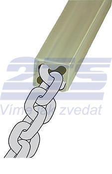 Polyuretanové ochranný návlek vnitř. pr.14 mm  pro ocel. lano pr.12 mm - 3