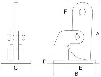 Horizontální svěrka CH 1 t, 0-35 mm, pár - 3