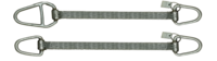 Ploché ocelové lano se zapleteným okem, typ 8701, 1t, 2m - 3/6