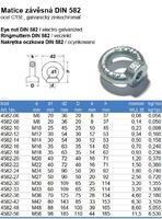 Matice s okem DIN 582 M20, ocel C15E, galvanicky pozinkovaná - 3/3
