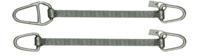 Ploché ocelové lano se zapleteným okem, typ 8701, 2t, 2,5m - 3/6