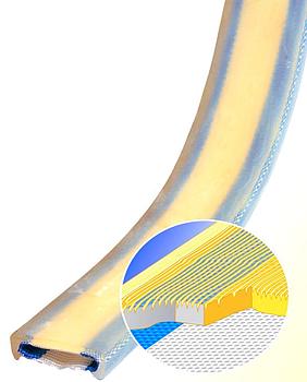 PU ochrana jednostranná pro 4vrstvý pás s kov. výztuhou a broušeným povrchem Clip-SC 300mm - 3