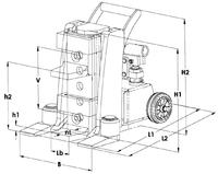 Hydraulický zvedák s přestavitelnou patkou JH-G plus 10t - 3/4