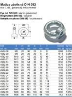 Matice s okem DIN 582 M30, ocel C15E, galvanicky pozinkovaná - 3/3