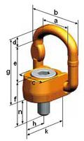 Šroubovací otočný a sklopný bod PLAW M20x33, nosnost 2,5 t, max.délka - 3/4