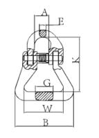 Spojovací člen textilní VGTE průměr 10 mm GAPA1, třída 8 - 3/3