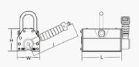 Permanentní břemenový magnet CPPML1000 GAPA, nosnost 1000 kg - 4/5