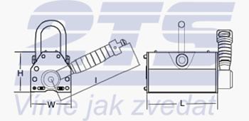 Permanentní břemenový magnet CPPML3000 GAPA, nosnost 3000 kg - 4