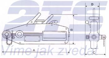 Lanový napínač CSZ 0,8 t, bez lana - 4