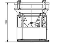 Beton silo 1016H.12, objem 1000 l - včetně obsluhovací plošiny na 1 osobu - 4/5