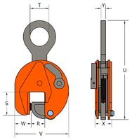 Vertikální svěrka VCEW-H 4,5t, Extra-Hart, 0-45 mm - 4/6