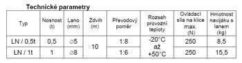 Lanový naviják LN 1 t bez lana - 4