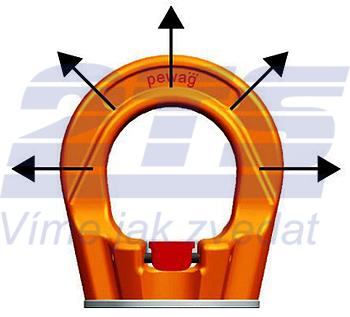Šroubovací otočný  bod PLGW-SN- M30x45, nosnost 4,9 t, s čipem NFC - 4