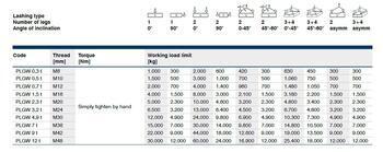 Šroubovací otočný  bod PLGW M20x60, nosnost 2,3 t, tř.10 - 4