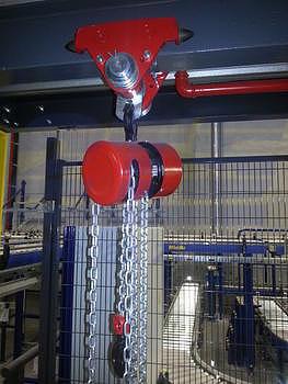 Řetězový kladkostroj Z100, nosnost 1,6 t, délka zdvihu 3 m - 4