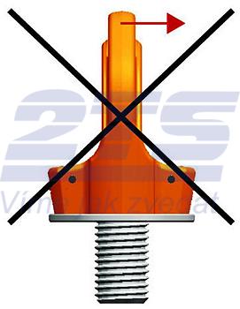 Šroubovací otočný  bod PLGW M16x25, nosnost 1,5 t - 4