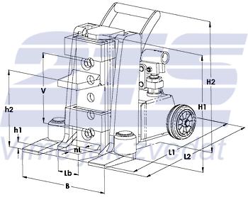 Hydraulický zvedák s přestavitelnou patkou JH-G plus 10t - 4
