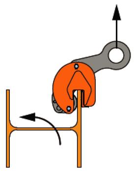 Nosníková svěrka BKW 1 t, 0-15 mm vertikální - 5
