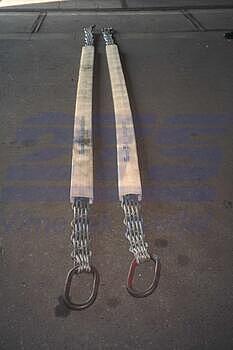 Ploché ocelové lano se zapleteným okem, typ 8701, 15t, 4,5m - 5