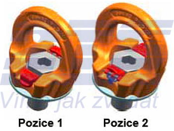 Šroubovací otočný  bod PLGW M36x55, nosnost 7 t - 5