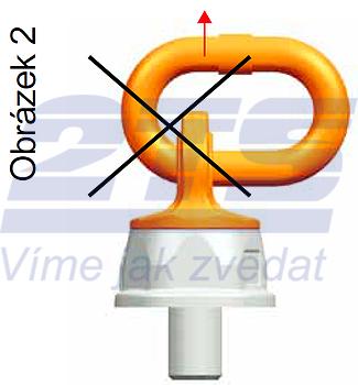Šroubovací otočný a sklopný bod PLDW M48x68, nosnost 12,5 t,s čipem NFC - 6