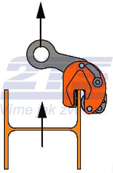 Nosníková svěrka BKW 1 t, 0-15 mm vertikální - 6