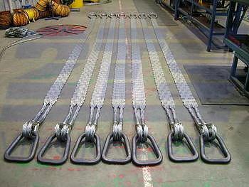 Ploché ocelové lano se zapleteným okem, typ 8701, 15t, 4,5m - 6