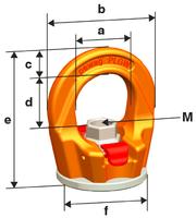 Šroubovací otočný  bod PLGW-SN- M30x45, nosnost 4,9 t, s čipem NFC - 6/7