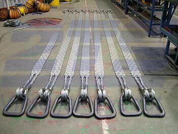 Ploché ocelové lano se zapleteným okem, typ 8701, 1t, 2m - 6