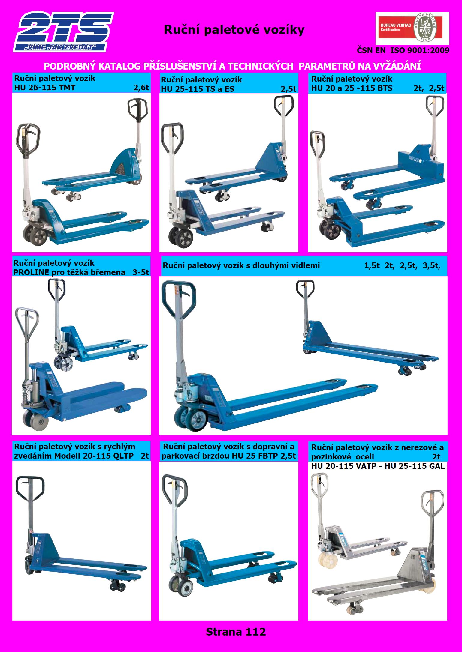 Ruční paletové vozíky