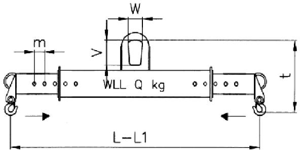Jeřábová traverza teleskopická rozměry