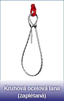 Kruhová ocelová lana zaplétaná