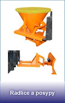 radlice a posypy pro vysokozdvižné vozíky
