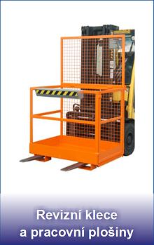 revizní klece a pracovní plošiny pro vysokozdvižné vozíky