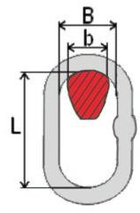 rozměry závěsného oka třídy 8