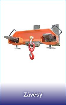 závěsnná zařízení pro vysokozdvižné vozíky
